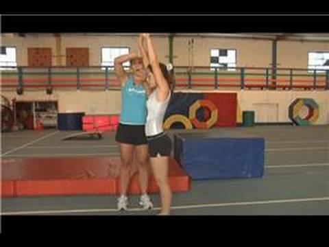 Gymnastics front tuck