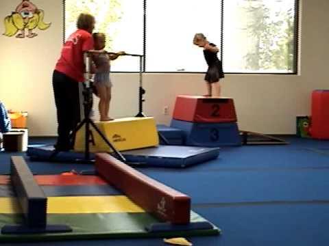 Adorable Preschoolers Love Gymnastics Class