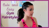 Easy Hair Style for Gymnastics